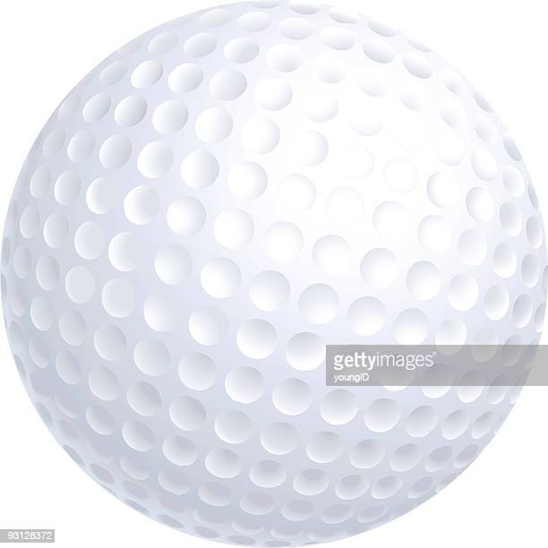 close-up of a golf ball isolated on white background - golf ball stock illustrations