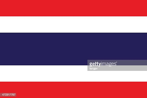 a close-up of the flag of thailand - thailand stock illustrations