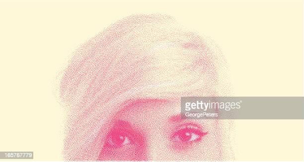Close-Up von Frau Gesicht