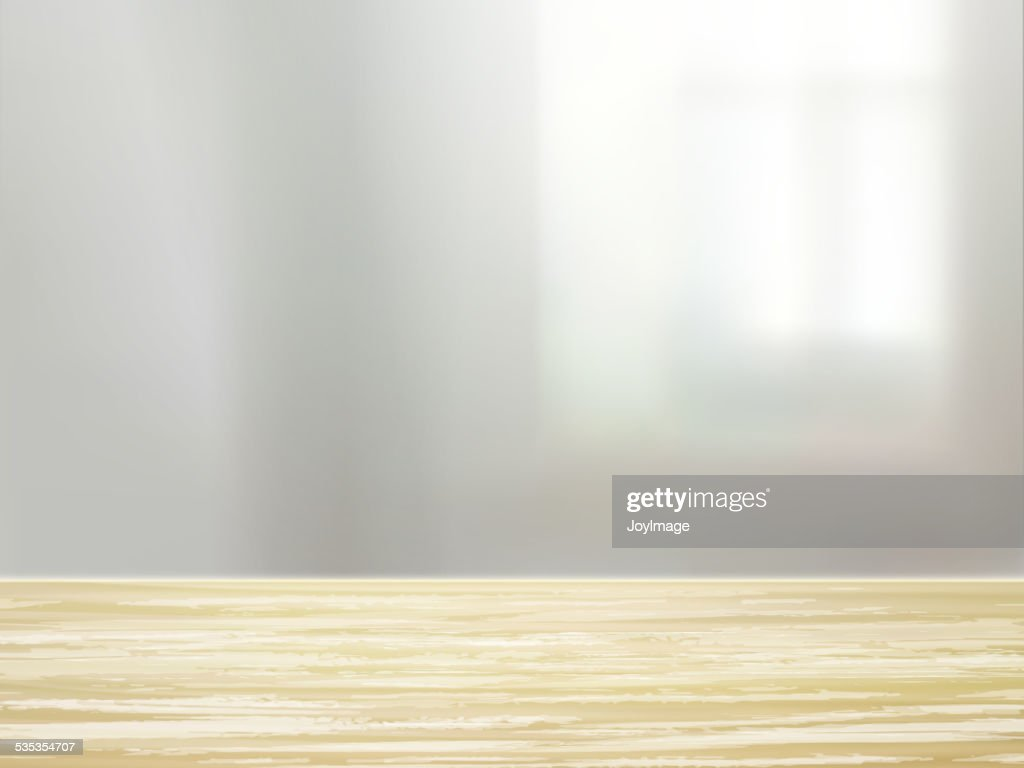 closeup of wooden desk and interior