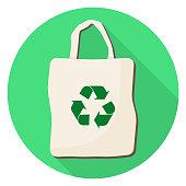 cloth bag Flat Design