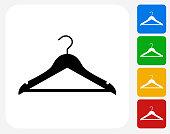 Cloth Hanger Icon Flat Graphic Design