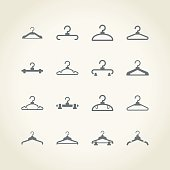 Cloth Hanger Icons
