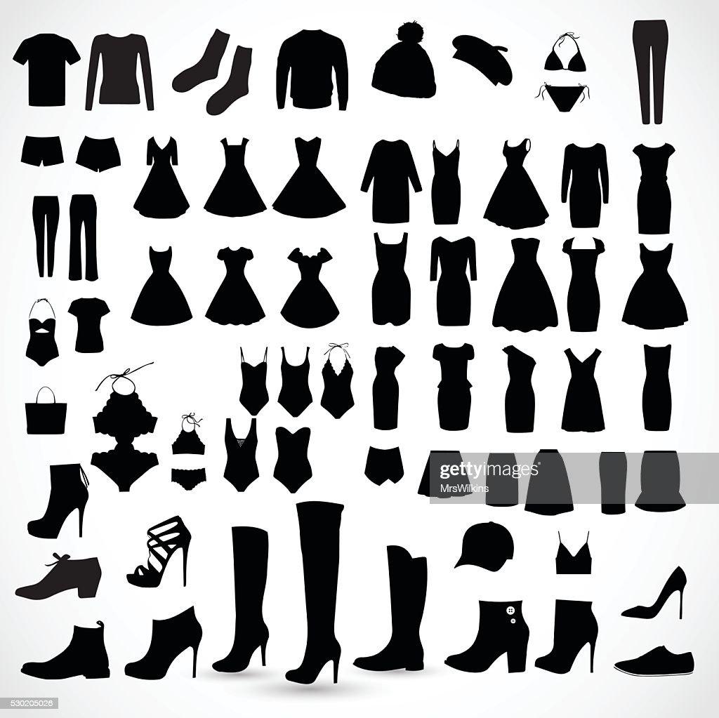 Clothes big set vector illustration