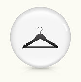 Clothes Hanger icon on white round vector button