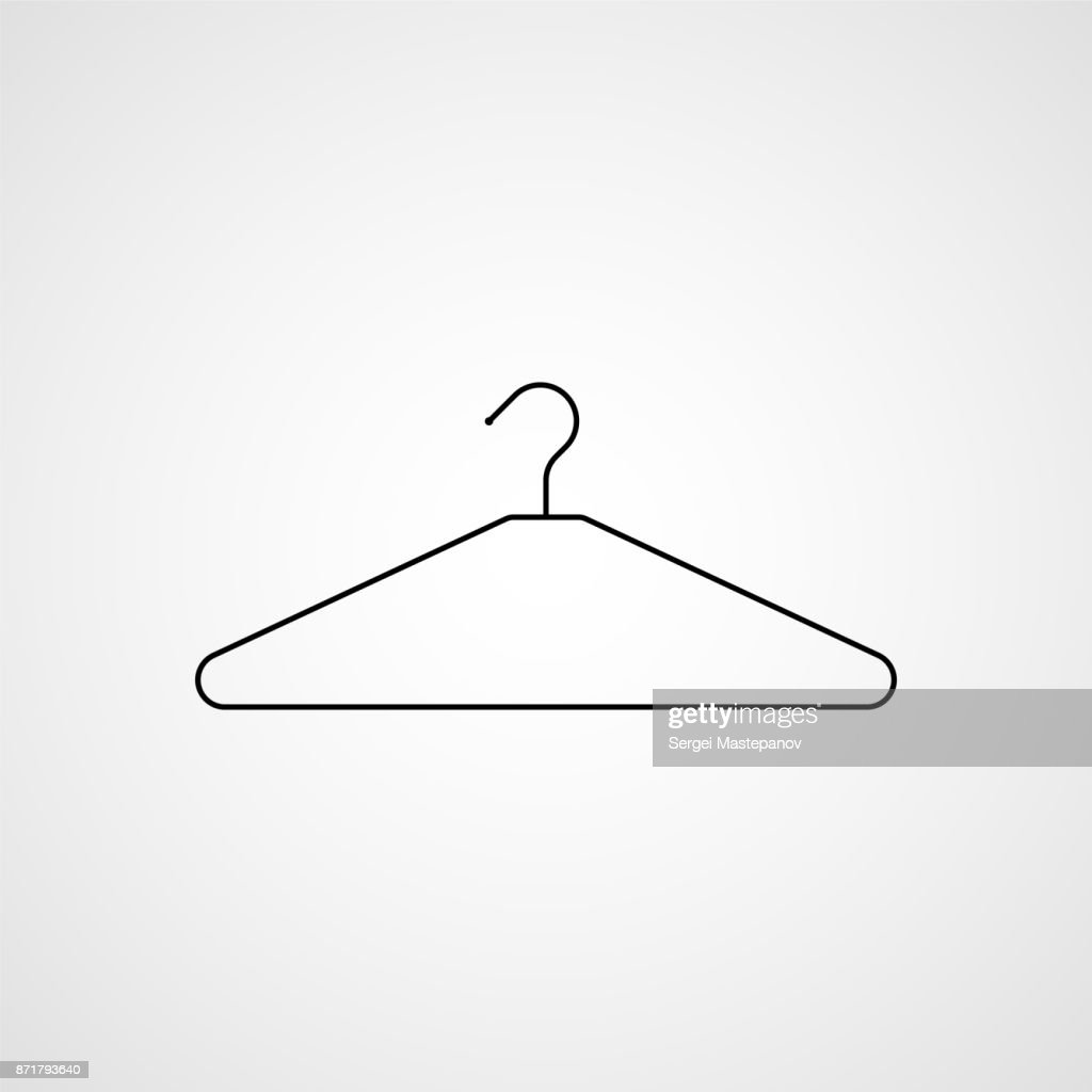 Clothes hanger icon. Vector
