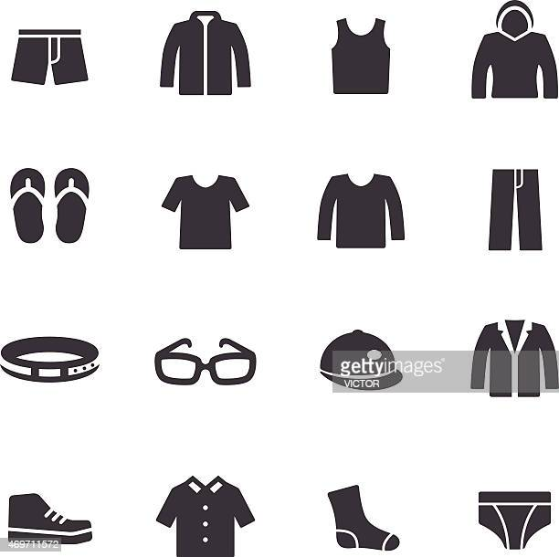 clothes icons - acme series - jacket stock illustrations