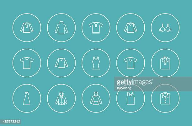 clothes icons - smart casual stock illustrations