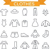 Clothes icons.