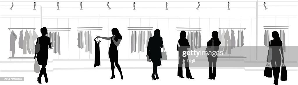 Clothes Shopping Mall : stock illustration