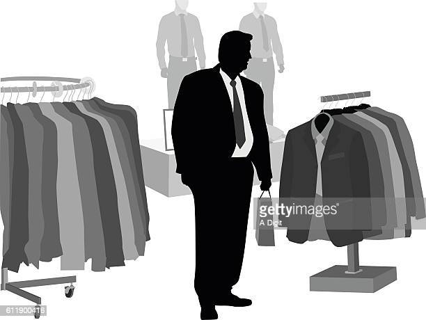 xxl clothes shopping vector silhouette - mannequin stock illustrations, clip art, cartoons, & icons