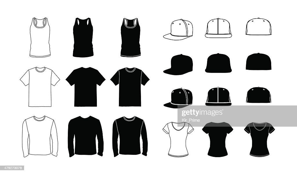 Clothes  template silhouette set