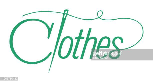 clothes - sewing stock illustrations