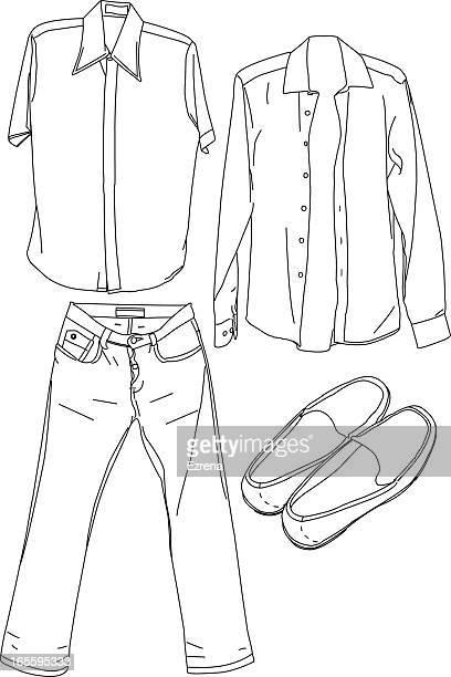 ilustrações, clipart, desenhos animados e ícones de roupas - open blouse