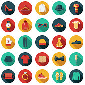 Clothing and Accessories Icon Set
