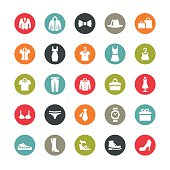 Clothing and Footwear related vector icons / Ringico series