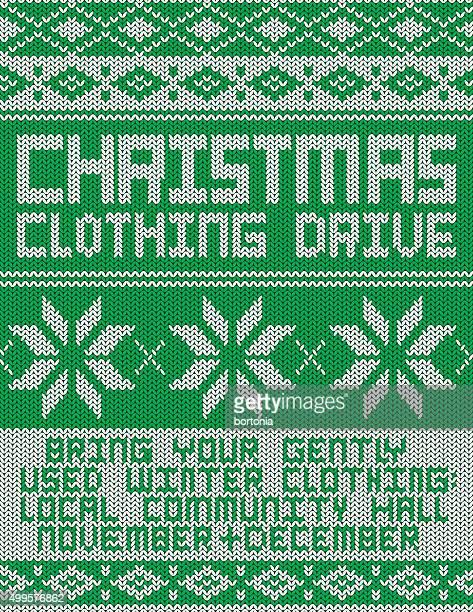 衣類ドライブパターンニットセーターのポスター ベクトルアート getty