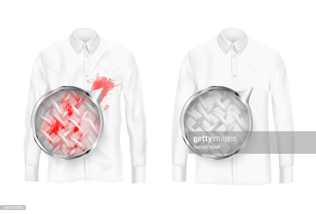 Clothing fabrics deep cleaning vector concept
