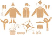 Clothing Knit. Tool of hand-knitted