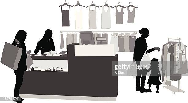 Clothing Sales Vector Silhouette
