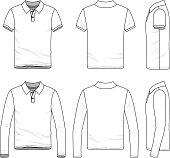 Clothing set of polo shirt.