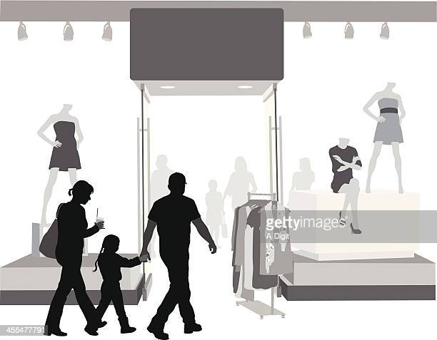 clothing shop - mannequin stock illustrations, clip art, cartoons, & icons