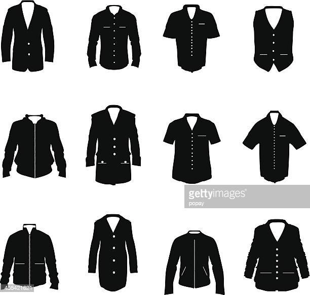 clothing silhouette. - coat stock illustrations
