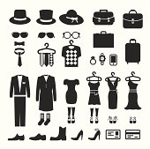 Clothing Store shopping Icon vector