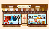 Clothing store showcases fashion shop interior