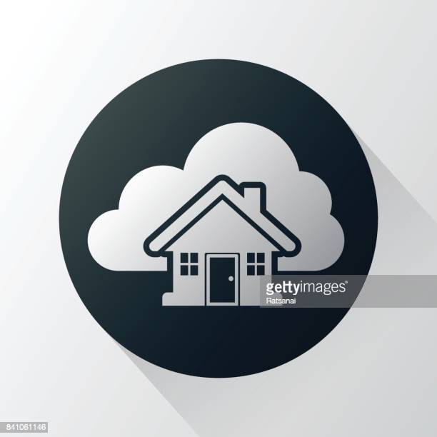 cloud and home icon - {{relatedsearchurl('county fair')}} stock illustrations, clip art, cartoons, & icons