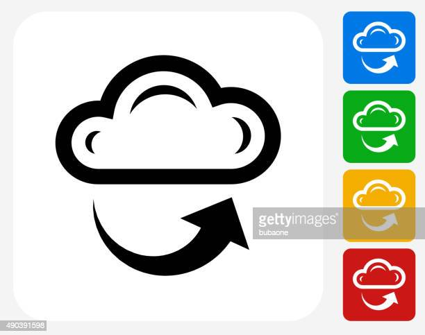 cloud and weather icon flat graphic design - water cycle stock illustrations, clip art, cartoons, & icons