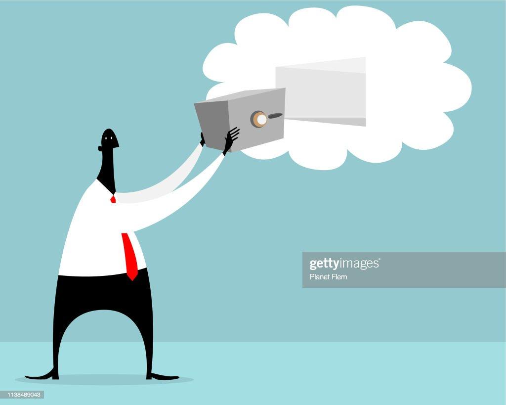 Cloud back-up : stock illustration
