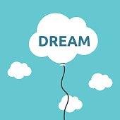 Cloud balloon, dream concept