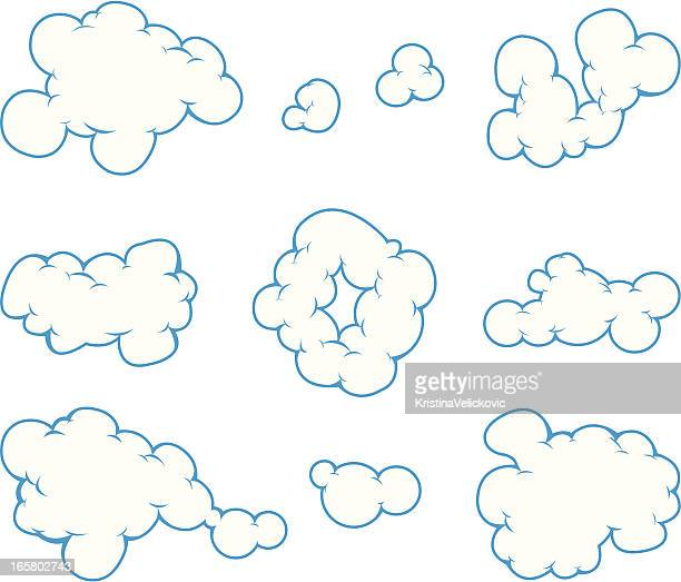 cloud comic - rauch stock-grafiken, -clipart, -cartoons und -symbole