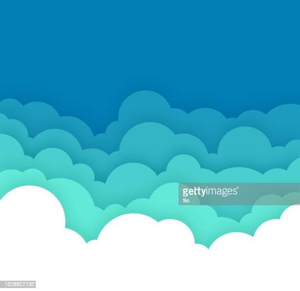 cloud cloudscape blue layers hintergrund - bedeckter himmel stock-grafiken, -clipart, -cartoons und -symbole