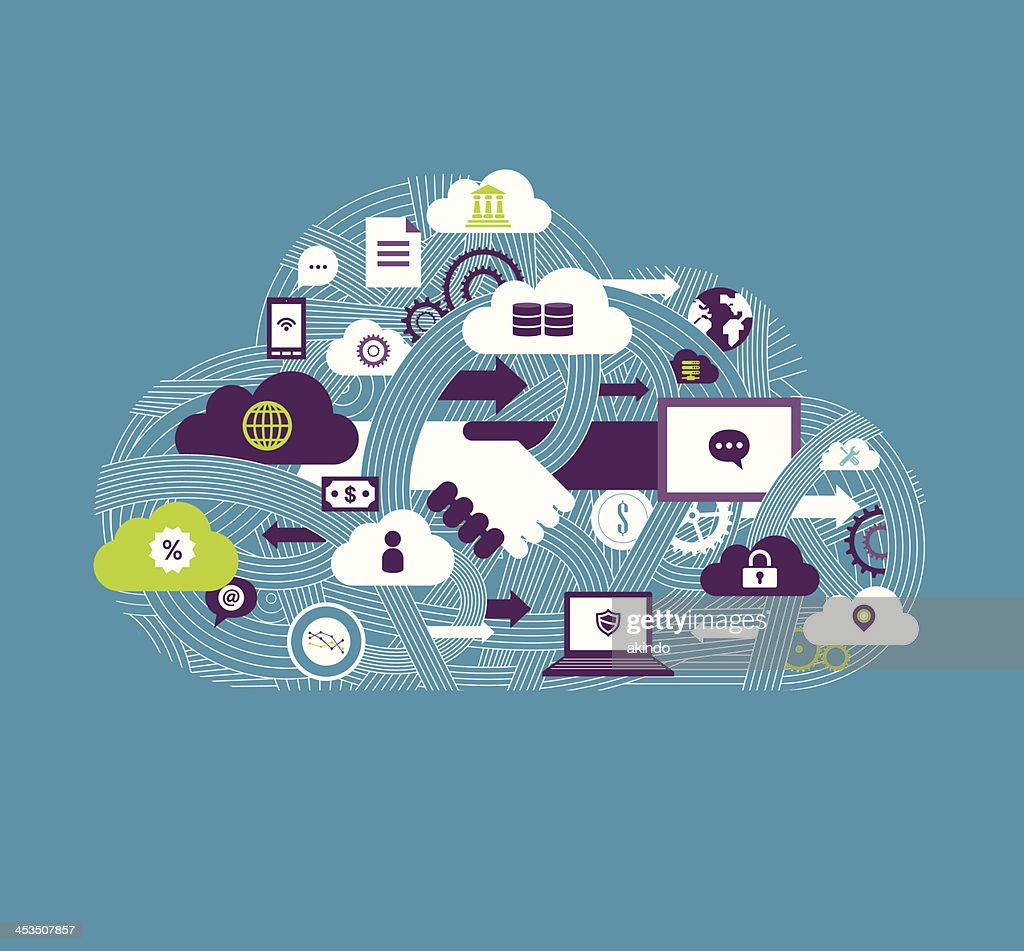 Cloud Communication : stock vector