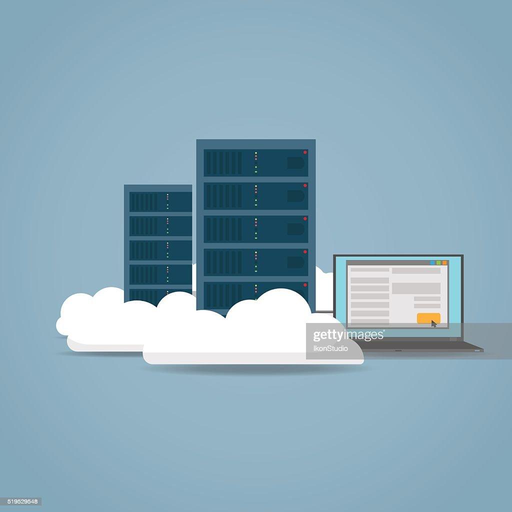 Cloud computer concept