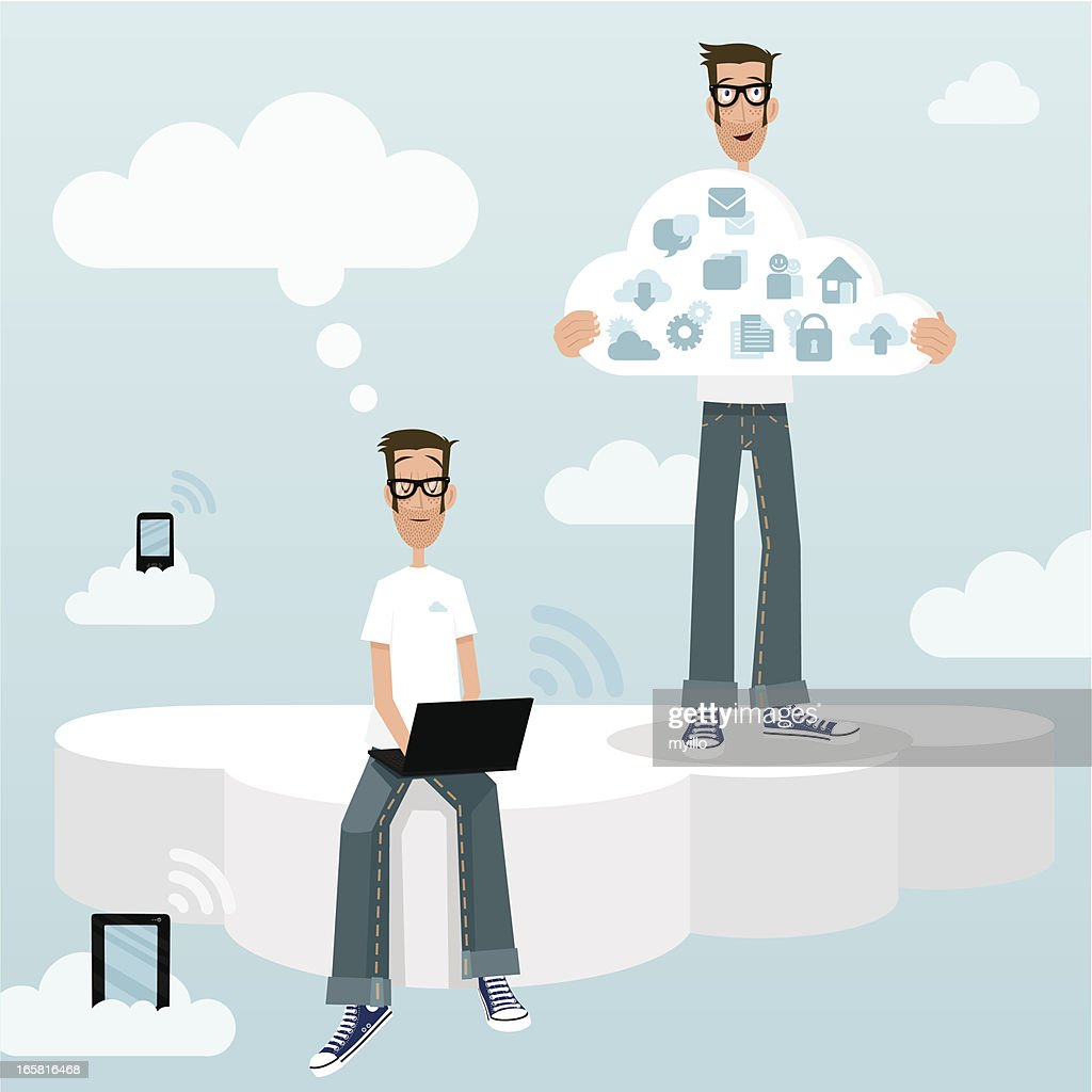 cloud computing cm community manager tablet smartphone laptop social media