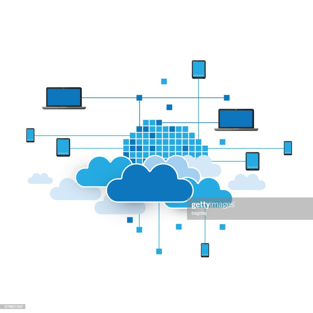 Cloud Computing Concept - Illustration for Your Business