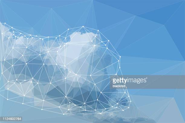 cloud computing concept illustration - cloud computing stock-grafiken, -clipart, -cartoons und -symbole
