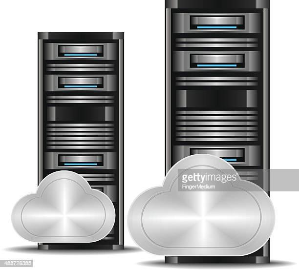 cloud computing concept - power supply box stock illustrations, clip art, cartoons, & icons