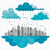 Cloud Computing Concept With Gears