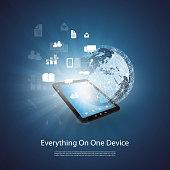 Cloud Computing, Hosting, Media Storage and Services Design Concept