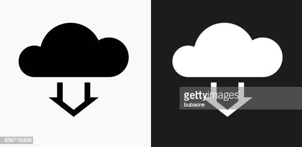 cloud computing icon on black and white vector backgrounds - {{relatedsearchurl('county fair')}} stock illustrations, clip art, cartoons, & icons