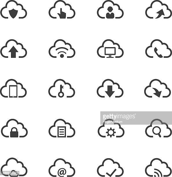 Cloud computing icon set