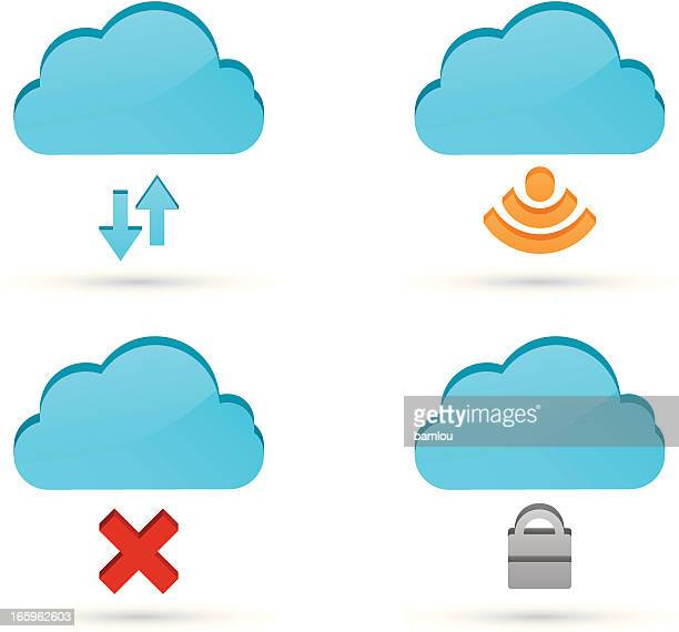 Cloud Computing Icons 3D