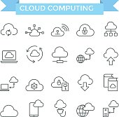 Cloud computing icons.