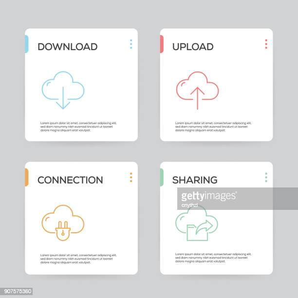 Cloud Computing Infographic Design Template