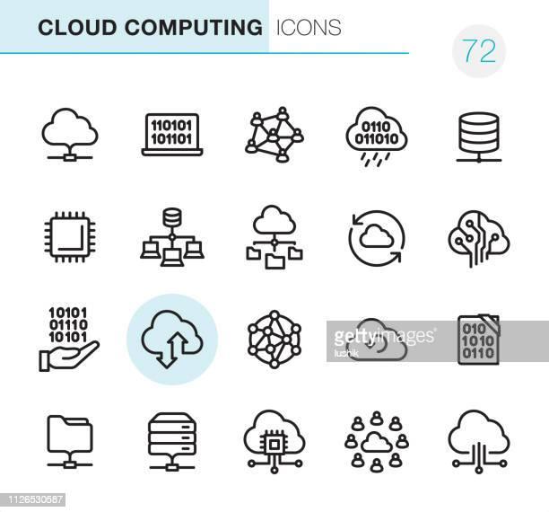 クラウドコンピューティング - ピクセル完璧なアイコン - ソフトウェアアップデート点のイラスト素材/クリップアート素材/マンガ素材/アイコン素材