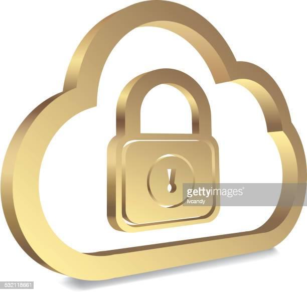 Nuage informatique symbole de sécurité